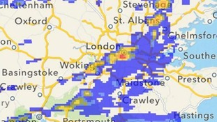 Rainfall radar for 1pm