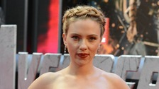 Johansson arrives at the Marvel Avengers Assemble premiere at the Westfield Centre in London.