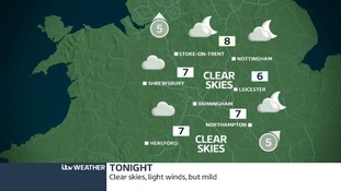 Sunday night's weather