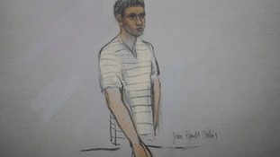 A court sketch of Robel Phillipos from May 1.