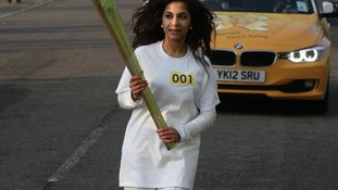 Jasmine Vanmali carrying the torch