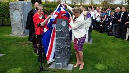 The Countess of Wessex unveils a memorial in honour of the Bevin Boys