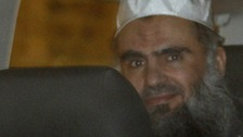 bu Qatada is driven from a Special Immigration Appeals Commission (SIAC) hearing in central London April 17, 2012