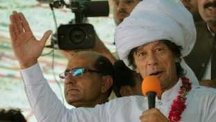 Imran Khan injured in fall at election rally