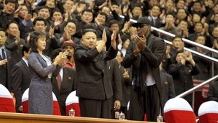 Dennis Rodman and North Korean leader Kim Jong-un