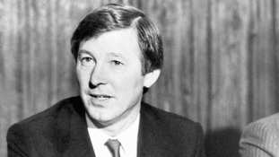 United's new manager Alex Ferguson gives a press conference at Old Trafford