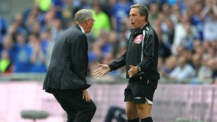 Alex Ferguson vents his frustration towards fourth official Alan Wiley