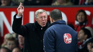 Ferguson argues with a fourth official