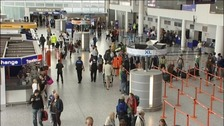 Library image of interior of terminal at Bristol Airport