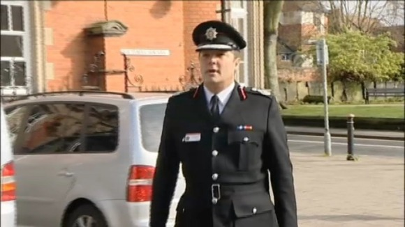 Warwickshire Fire and Rescue's Chief Fire Officer Graeme Smith arriving at court today
