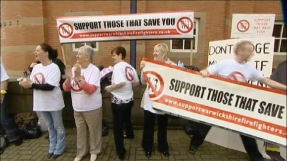 Protestors at Stafford Crown Court today