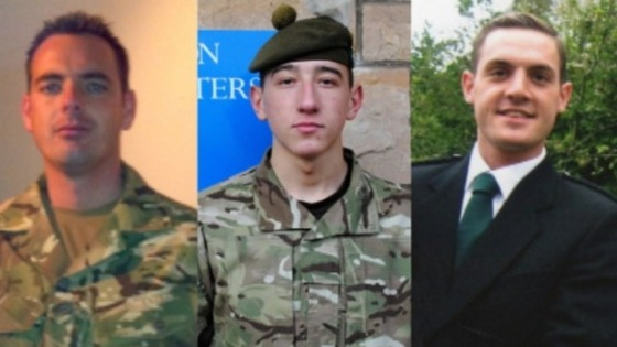 Corporal William Thomas Savage, Fusilier Samuel Flint and Private Robert Murray Hetherington