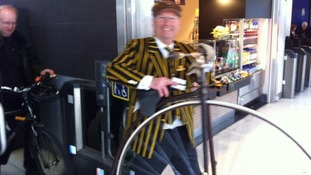 Penny Farthing cyclist