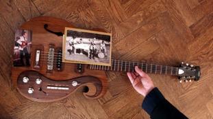Guitar on floor