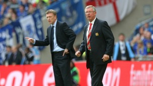 David Moyes with Sir Alex Ferguson