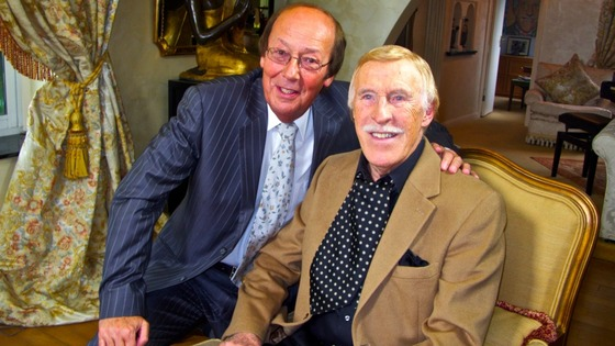 Fred Dinenage and Sir Bruce Forsyth