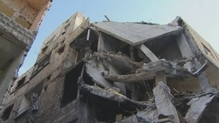 Damaged building in Damascus