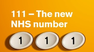 The NHS 111 helpline service.