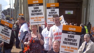 Remploy workers protest