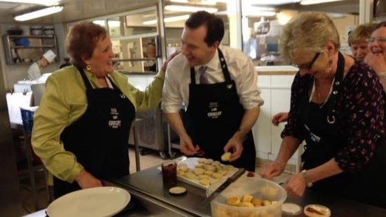 "Osborne said he ""dropped in to say thanks"" to WI members"