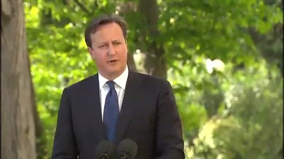 David Cameron speaking in Sochi