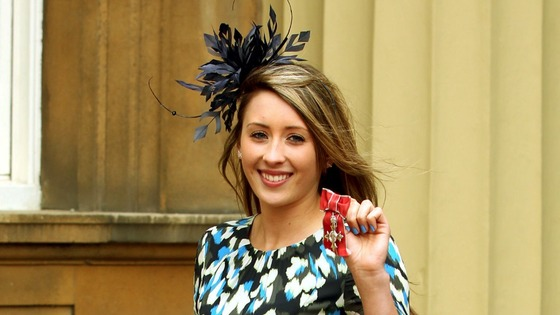Olympic Taekwondo gold medallist Jade Jones after receiving her MBE.