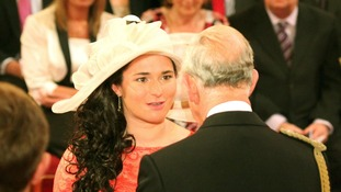 Paralympic Gold medal winning cyclist Sarah Storey becomes a Dame during today's investiture ceremony.