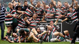 Leicester Tigers celebrate their victory during the Guinness Premiership Final at Twickenham, London.
