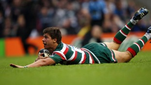 Ben Youngs scores the second Leicester Tigers try