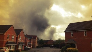 Picture taken by resident close to scen of Derbyshire fire