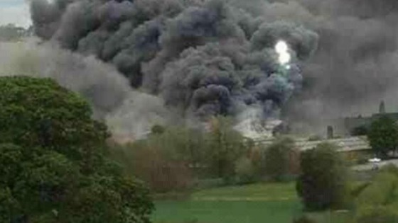 A local resident captured the aftermath of the explosion in Derbyshire