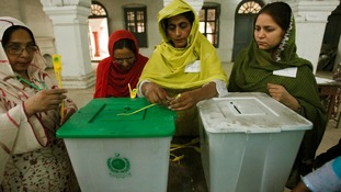 Polling in Pakistan's historic election began this morning