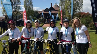 Sussex charity bike riders
