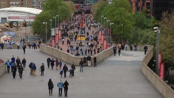 Manchester City and Wigan fans have already begun arriving in London