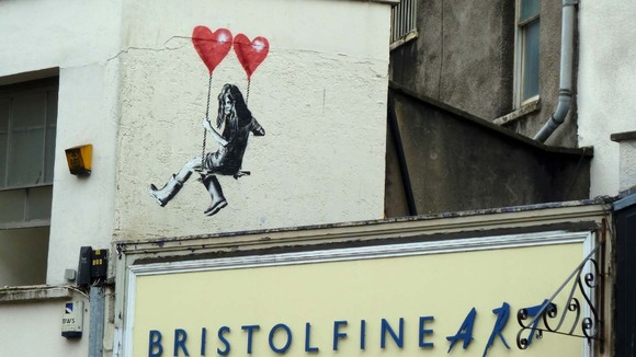 September auction planned of Banksy work from ex-auto ...