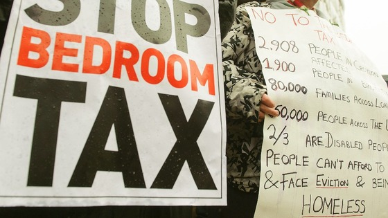"There have been protests against the Government's so-called ""bedroom tax"""