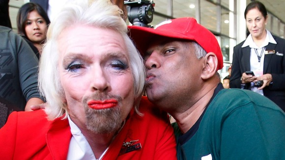 Branson kissed