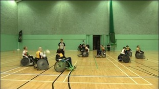 Wheelchair Rugby match
