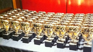All the BAFTA awards are carefully polished before the big event