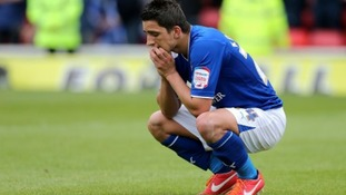 Leicester City's Anthony Knockaert looks dejected on the pitch after Watford score their third goal of the game