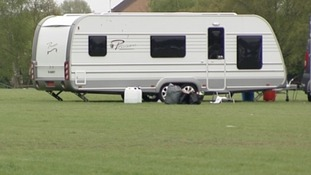 The travellers were given documents on Friday requesting they leave the site.