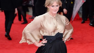 Sarah Lancashire is a bit wind swept on BAFTA red carpet