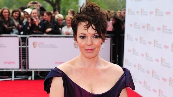 Olivia Colman on BAFTA red carpet