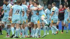 Northampton celebrate following victory in the Aviva Premiership Semi Final match at Allianz Park, London.