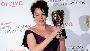 Olivia Colman with the Supporting Actress Award, at the Arqiva British Academy Television Awards 2013