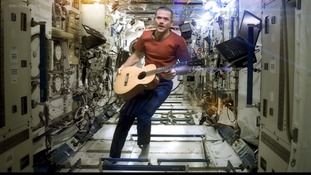 Astronaut records first ever music video in space