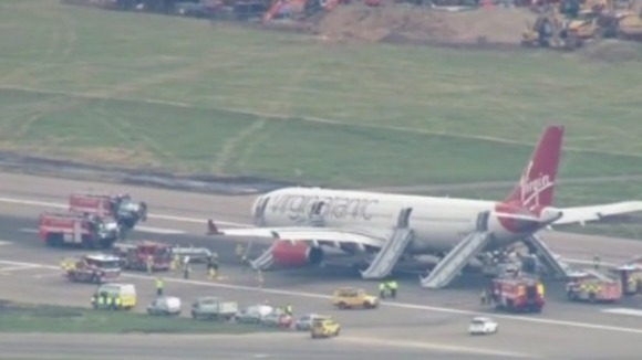 Virgin Atlantic plane emergency landing at Gatwick