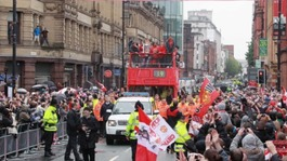 The parade brought Deansgate to a standstill