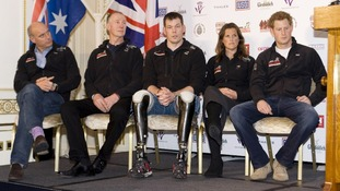 Prince Harry (right) will join a 210-mile trek across Antarctica this winter
