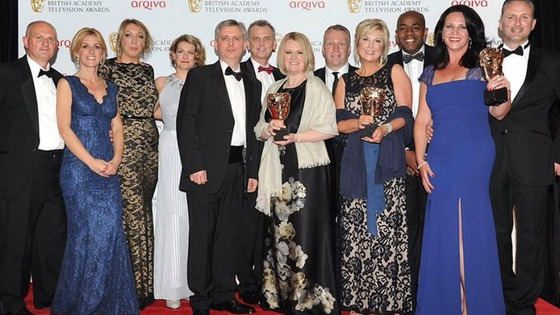 Some of the Granada Reports team at last night's BAFTA awards ceremony